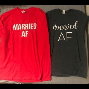 Married AF T-shirt's for bride and groom